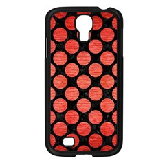 Circles2 Black Marble & Red Brushed Metal (r) Samsung Galaxy S4 I9500/ I9505 Case (black) by trendistuff