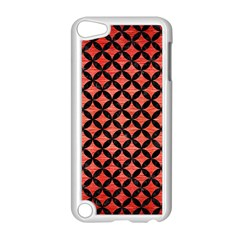 Circles3 Black Marble & Red Brushed Metal Apple Ipod Touch 5 Case (white) by trendistuff