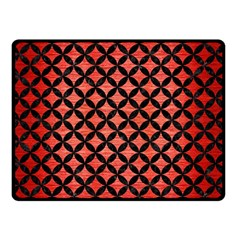 Circles3 Black Marble & Red Brushed Metal Double Sided Fleece Blanket (small)  by trendistuff