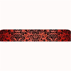 Damask2 Black Marble & Red Brushed Metal Small Bar Mats by trendistuff