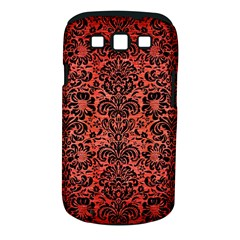 Damask2 Black Marble & Red Brushed Metal Samsung Galaxy S Iii Classic Hardshell Case (pc+silicone) by trendistuff