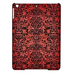 Damask2 Black Marble & Red Brushed Metal Ipad Air Hardshell Cases by trendistuff