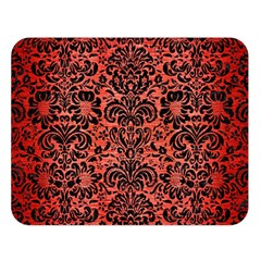 Damask2 Black Marble & Red Brushed Metal Double Sided Flano Blanket (large)  by trendistuff