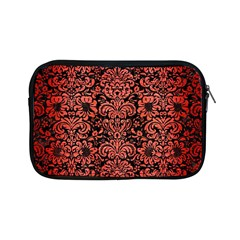 Damask2 Black Marble & Red Brushed Metal (r) Apple Ipad Mini Zipper Cases by trendistuff
