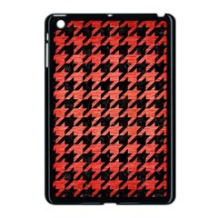 Houndstooth1 Black Marble & Red Brushed Metal Apple Ipad Mini Case (black) by trendistuff