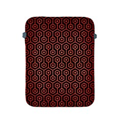 Hexagon1 Black Marble & Red Brushed Metal (r) Apple Ipad 2/3/4 Protective Soft Cases by trendistuff