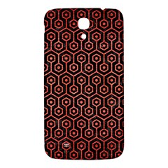 Hexagon1 Black Marble & Red Brushed Metal (r) Samsung Galaxy Mega I9200 Hardshell Back Case by trendistuff