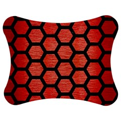 Hexagon2 Black Marble & Red Brushed Metal Jigsaw Puzzle Photo Stand (bow) by trendistuff