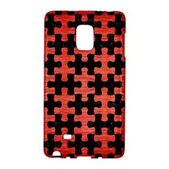 Puzzle1 Black Marble & Red Brushed Metal Galaxy Note Edge by trendistuff
