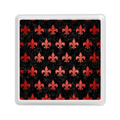 Royal1 Black Marble & Red Brushed Metal Memory Card Reader (square)  by trendistuff