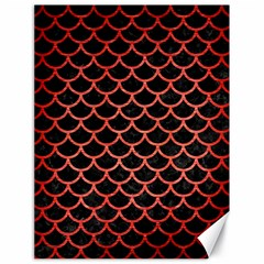 Scales1 Black Marble & Red Brushed Metal (r) Canvas 18  X 24   by trendistuff