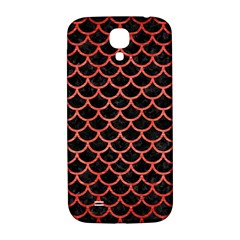 Scales1 Black Marble & Red Brushed Metal (r) Samsung Galaxy S4 I9500/i9505  Hardshell Back Case by trendistuff