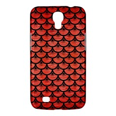 Scales3 Black Marble & Red Brushed Metal Samsung Galaxy Mega 6 3  I9200 Hardshell Case by trendistuff