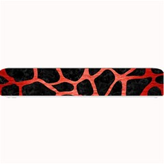 Skin1 Black Marble & Red Brushed Metal Small Bar Mats by trendistuff