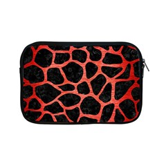 Skin1 Black Marble & Red Brushed Metal Apple Ipad Mini Zipper Cases by trendistuff