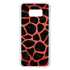 Skin1 Black Marble & Red Brushed Metal Samsung Galaxy S8 Plus White Seamless Case by trendistuff