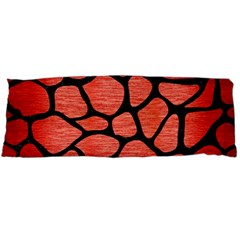 Skin1 Black Marble & Red Brushed Metal (r) Body Pillow Case Dakimakura (two Sides) by trendistuff