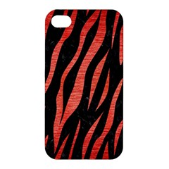 Skin3 Black Marble & Red Brushed Metal (r) Apple Iphone 4/4s Hardshell Case by trendistuff