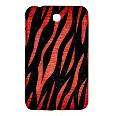 Skin3 Black Marble & Red Brushed Metal (r) Samsung Galaxy Tab 3 (7 ) P3200 Hardshell Case  by trendistuff