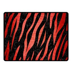Skin3 Black Marble & Red Brushed Metal (r) Double Sided Fleece Blanket (small)  by trendistuff