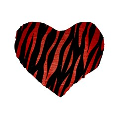 Skin3 Black Marble & Red Brushed Metal (r) Standard 16  Premium Flano Heart Shape Cushions by trendistuff