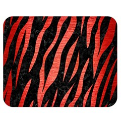 Skin3 Black Marble & Red Brushed Metal (r) Double Sided Flano Blanket (medium)  by trendistuff