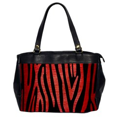 Skin4 Black Marble & Red Brushed Metal Office Handbags by trendistuff