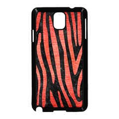 Skin4 Black Marble & Red Brushed Metal Samsung Galaxy Note 3 Neo Hardshell Case (black) by trendistuff