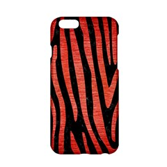 Skin4 Black Marble & Red Brushed Metal Apple Iphone 6/6s Hardshell Case by trendistuff
