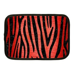 Skin4 Black Marble & Red Brushed Metal (r) Netbook Case (medium)