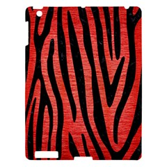 Skin4 Black Marble & Red Brushed Metal (r) Apple Ipad 3/4 Hardshell Case by trendistuff