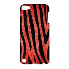 Skin4 Black Marble & Red Brushed Metal (r) Apple Ipod Touch 5 Hardshell Case by trendistuff