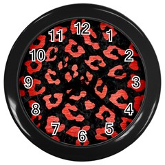 Skin5 Black Marble & Red Brushed Metal Wall Clocks (black) by trendistuff