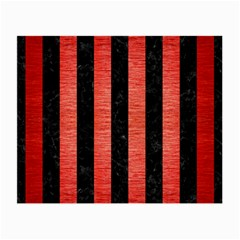 Stripes1 Black Marble & Red Brushed Metal Small Glasses Cloth by trendistuff
