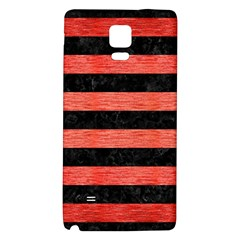 Stripes2 Black Marble & Red Brushed Metal Galaxy Note 4 Back Case by trendistuff