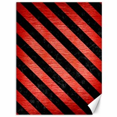 Stripes3 Black Marble & Red Brushed Metal Canvas 36  X 48   by trendistuff
