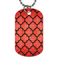 Tile1 Black Marble & Red Brushed Metal Dog Tag (two Sides) by trendistuff