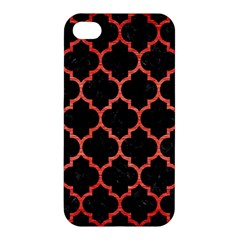 Tile1 Black Marble & Red Brushed Metal (r) Apple Iphone 4/4s Hardshell Case by trendistuff
