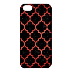 Tile1 Black Marble & Red Brushed Metal (r) Apple Iphone 5c Hardshell Case by trendistuff