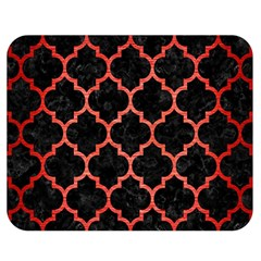 Tile1 Black Marble & Red Brushed Metal (r) Double Sided Flano Blanket (medium)  by trendistuff