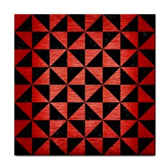 Triangle1 Black Marble & Red Brushed Metal Tile Coasters by trendistuff