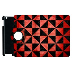 Triangle1 Black Marble & Red Brushed Metal Apple Ipad 2 Flip 360 Case by trendistuff