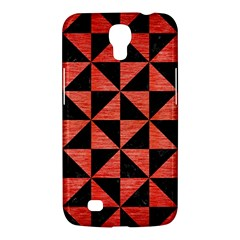 Triangle1 Black Marble & Red Brushed Metal Samsung Galaxy Mega 6 3  I9200 Hardshell Case by trendistuff