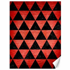 Triangle3 Black Marble & Red Brushed Metal Canvas 36  X 48   by trendistuff