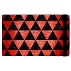 Triangle3 Black Marble & Red Brushed Metal Apple Ipad 2 Flip Case by trendistuff