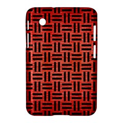 Woven1 Black Marble & Red Brushed Metal Samsung Galaxy Tab 2 (7 ) P3100 Hardshell Case  by trendistuff
