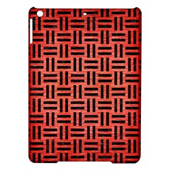 Woven1 Black Marble & Red Brushed Metal Ipad Air Hardshell Cases by trendistuff
