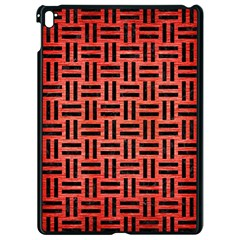 Woven1 Black Marble & Red Brushed Metal Apple Ipad Pro 9 7   Black Seamless Case by trendistuff