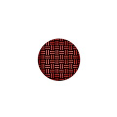 Woven1 Black Marble & Red Brushed Metal (r) 1  Mini Buttons by trendistuff