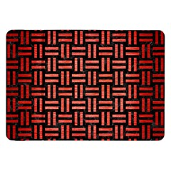 Woven1 Black Marble & Red Brushed Metal (r) Samsung Galaxy Tab 8 9  P7300 Flip Case by trendistuff